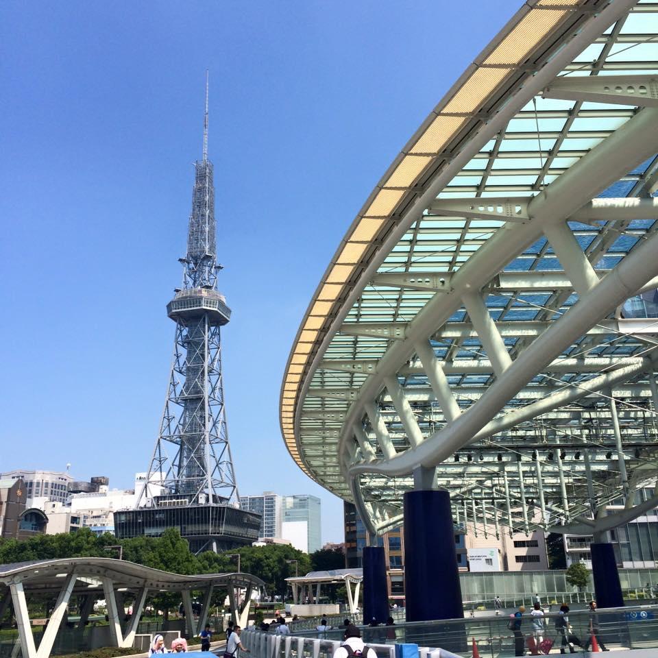 名古屋。夏でも冬でもあまり景色変わりません。