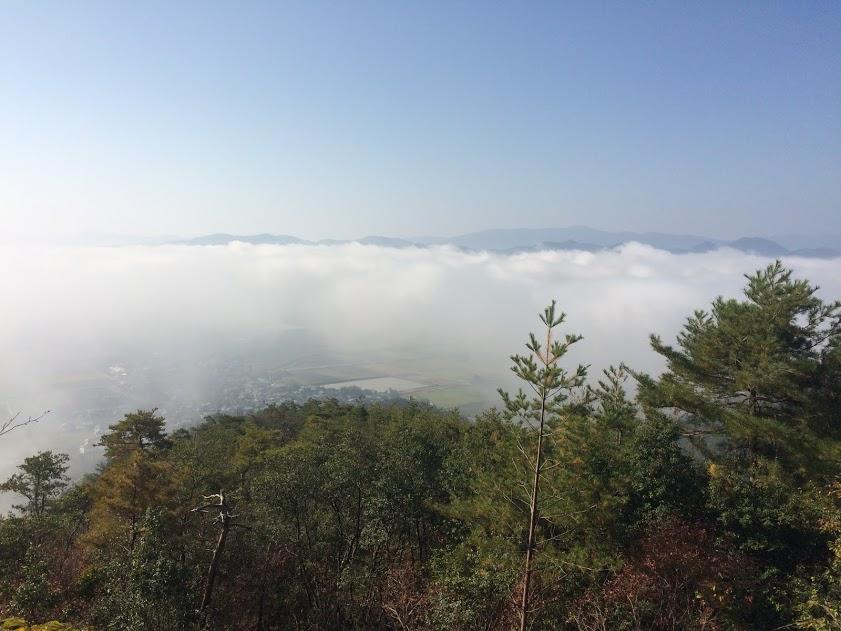 晩秋の南丹(八木町)雲海がみられます